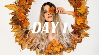 DAY 1/7 - Self Portrait with an Autumn Wreath!