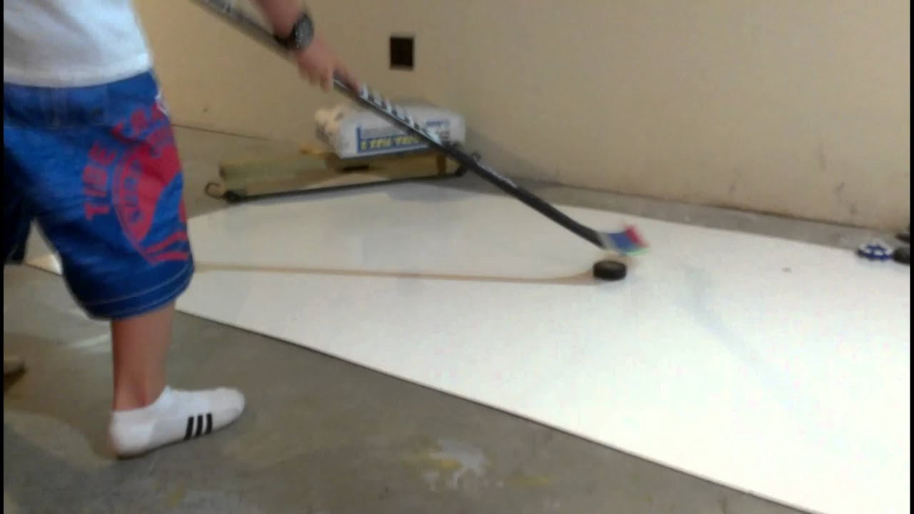Little Homemade Ice Rink In The Basement Youtube