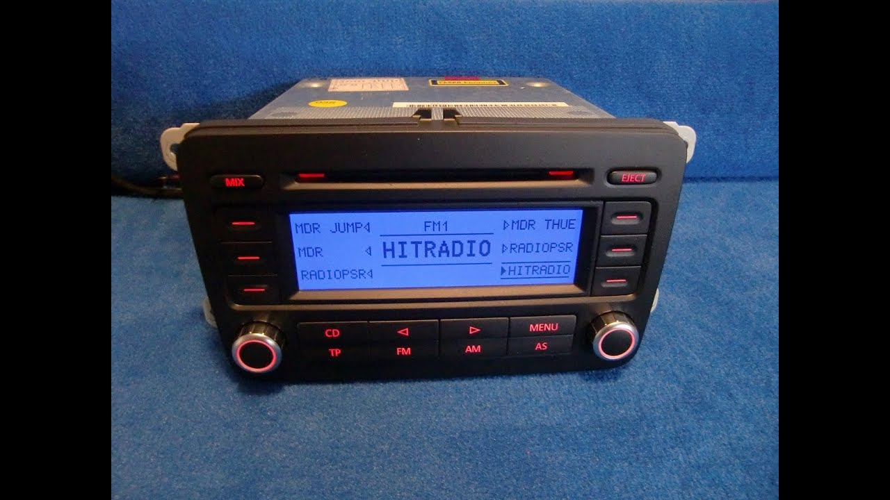 vw volkswagen rcd 300 cd radio autoradio carradio car. Black Bedroom Furniture Sets. Home Design Ideas