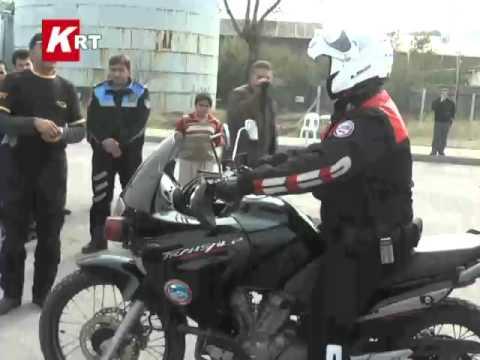 polislere motor eğitimi...
