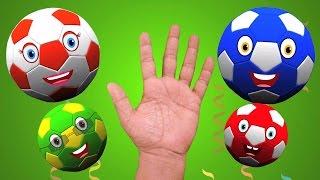 Bóng đá ngón tay gia đình | trẻ em bài hát | Ngón tay vần vần | Football Finger Family | Baby Songs