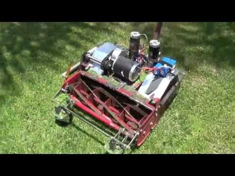 Mr Tmac s rc lawn mower with hacked ps2 rc 2