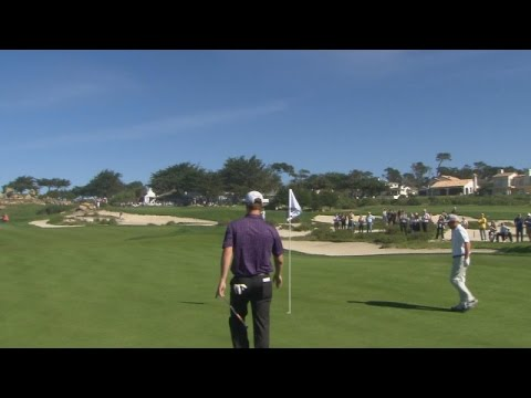 San Francisco Giant Matt Cain pitches in at AT&T Pebble Beach National Pro-Am