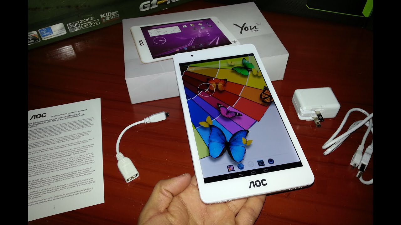 Tablet Aoc You 8s Q80k31l 2o Unboxing Youtube