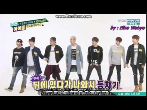 [INDO SUB] 140430 BTS - Weekly Idol (Random Play Dance)