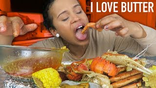 Seafood Boil Mukbang: FIRST TIME TRYING GREEN LIPPED MUSSELS (Crab, Lobster)