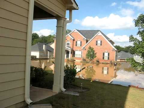 Flood at my brother Vernon's house Austell, GA (Atlanta west suburb)