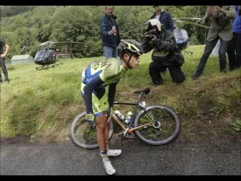 Alberto Contador crash - Tour de France 2014 - Stage 10