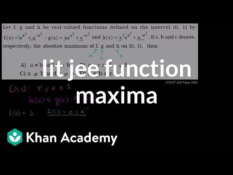 Iit Jee Function Maxima video