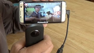 RICOH theta 360 degree live streaming with android phone
