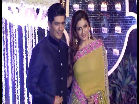 Raveena Tandon at Manish Malhotra's niece Riddhi Malhotra's wedding reception.