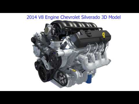 Chevrolet Silverado V8 Engine 3D Model
