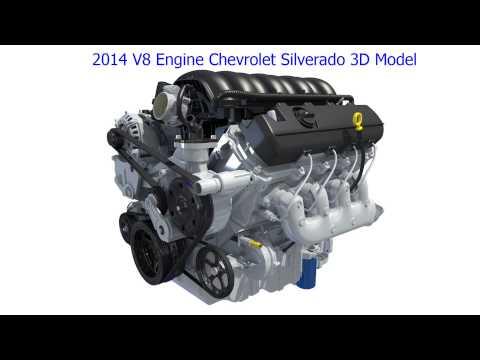 Chevrolet Silverado V8 Engine 3D Model