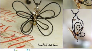 How to Make a Bent Wire Butterfly Pendant by Linda Peterson