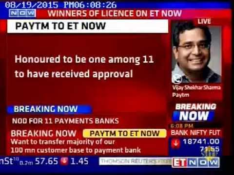 Paytm gets RBI payments bank license -  ET Now