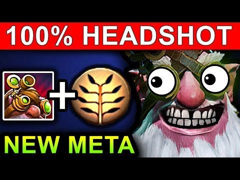 AMAZING SNIPER 100% HEADSHOT - DOTA 2 PATCH 7.07 NEW META PRO GAMEPLAY