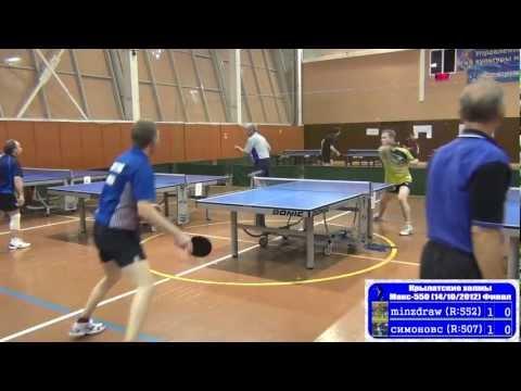 Sergey PODOBED vs Sergey SIMONOV FINAL Moscow, Krylatsky Hills, League-550 Table Tennis