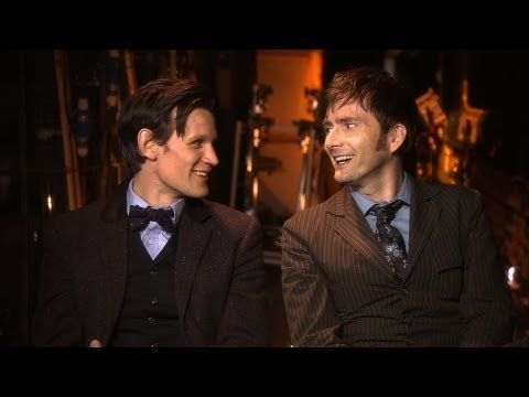 Matt Smith and David Tennant Behind the Scenes of the Doctor...