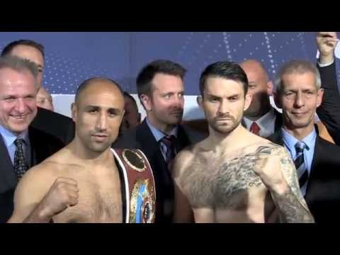 ARTHUR ABRAHAM v PAUL SMITH Jr OFFICIAL WEIGH IN & HEAD TO HEAD / KIEL GERMANY