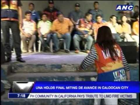 UNA holds final 'miting de avance' in Caloocan