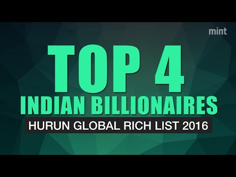 Top Indian billionaires in Hurun Global Rich List 2016