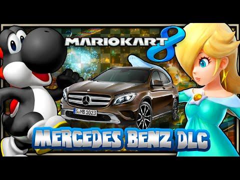 Mario Kart 8 Wii U - (1440p) Mercedes Benz, Yoshi, & Shy Guy DLC