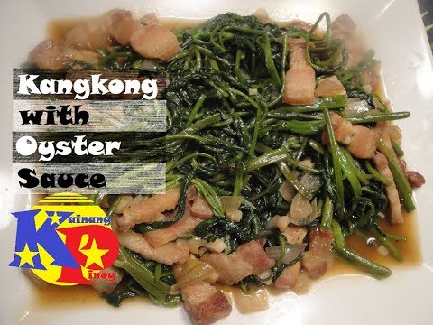 Kangkong with Oyster Sauce