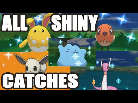 All Shiny Pokemon Catches In Pokemon X And Y Compilation Pokemon Omega Ruby And Alpha Sapphire Hype! video