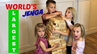 GIANT JENGA   FAMILY GAME NIGHT