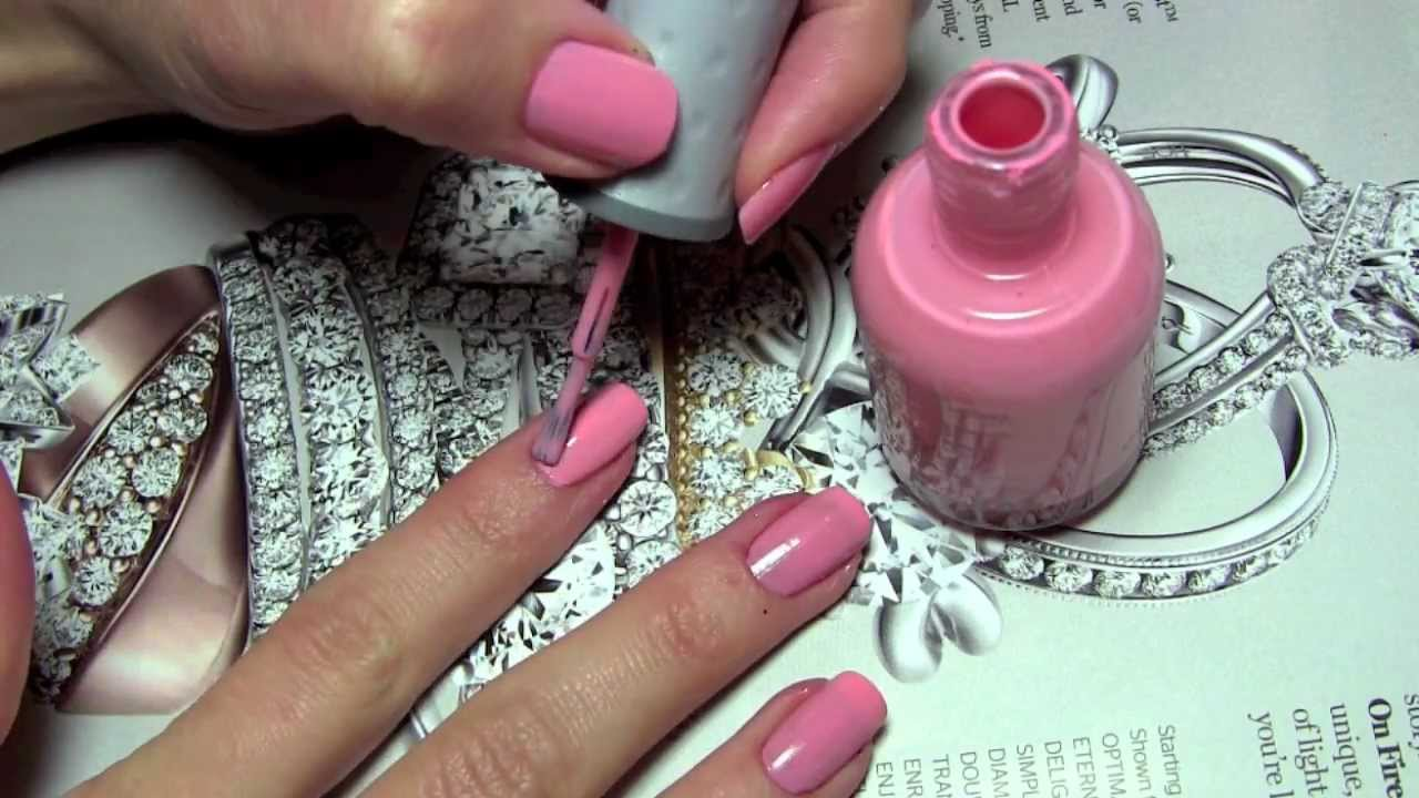 дизайн ногтей в розовом цвете: