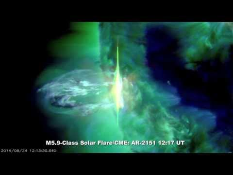 MAGNIFICENT M5.9-CLASS SOLAR FLARE/CME: Aug 24th, 2014.