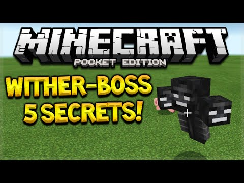 Minecraft Pocket Edition 0.16.0 - Wither-Boss Secrets You Might Not Know (Pocket Edition)