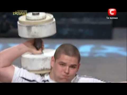 Подъем гиря 80 кг в 16 лет рекорд Украина мае талант 5