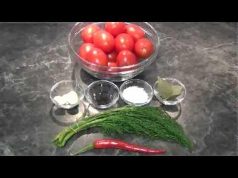 Рецепт: Солёные помидоры за два дня, хорошая закуска