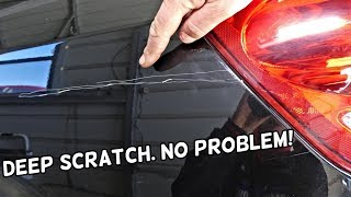 HOW TO REPAIR DEEP CAR PAINT SCRATCH LIKE A PRO