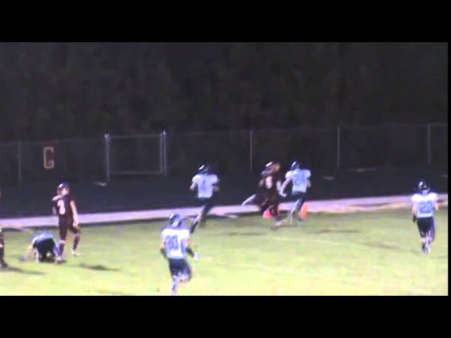 10-3-14 - 55 yard TD pass from Kyle Rosenbrock to Zeke Coronado (Brush 19, P. Valley 7)