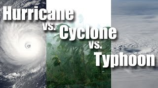 Hurricane vs Cyclone vs Typhoon