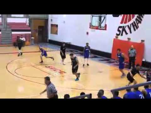 Elgin Community College Fresh Desmond Sanders dunk on Oakton 10-18-2014