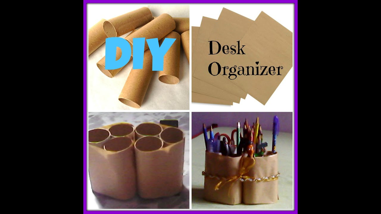 Diy desk organizer youtube - Diy desk organizer ideas ...