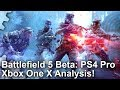 4K Battlefield 5 Beta Xbox One X Vs PS4 Pro Performance Resolution Graphics Analysis mp3