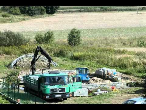 budowa domu - część 1: fundament.  Film poklatkowy.