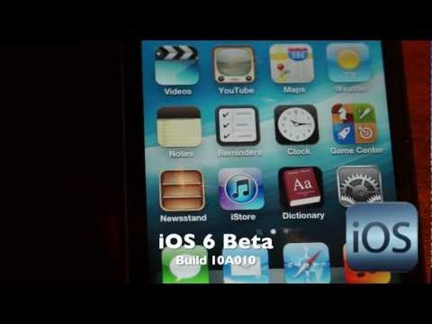 iOS 6 Beta (Build 10A010)