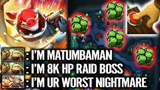 7000 MMR PRO TECHIES - VS - MATUMBAMAN 8K HP PUDGE RAIDBOSS | DOTA 2 PRO GAMEPLAY