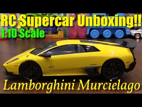 Remote Control Toys For Kids: 1:10 Scale Lamborghini Murcielago RC Car Unboxing W/ Hulyan