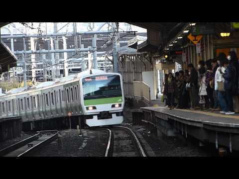 【JR東日本】E231 500番台 山手線内回り 代々木駅 Lumix FZ150 AVCHD-WMV720