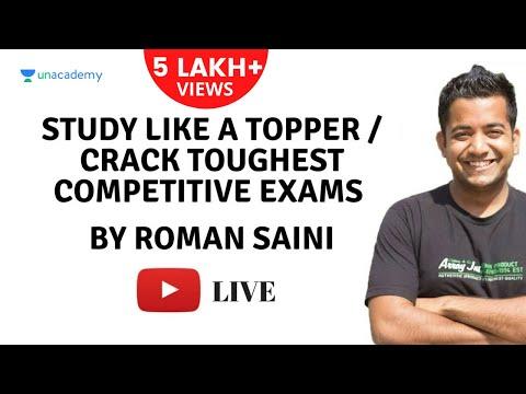 Study like a topper/Crack toughest competitive exams (UPSC/SSC/Bank/Railways/JEE/PMT) Roman Saini