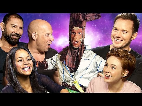 Guardians of the galaxy vs root vin diesel zoe saldana karren gillan