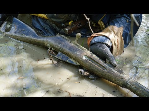 Склад оружия в болоте! Раскопки Второй мировой металлоискатель в деле