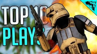 HEROES 239 KILLSTREAK?! - Top 10 Star Wars Battlefront Plays (Bonus Plays 37)