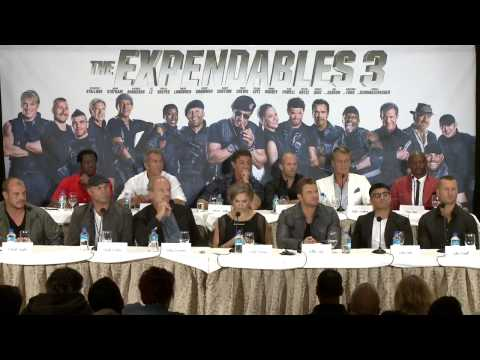 The Expendables 3: Full Press Conference - Sylvester Stallone, Mel Gibson, Jason Statham